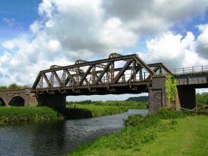 Langport railway bridge over the River Parrett